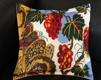 "Josef Frank ""Cave"" textile retired pattern genuine authentic pure linen fabric 16""x16"" interior pillow Scandinavian Swedish"