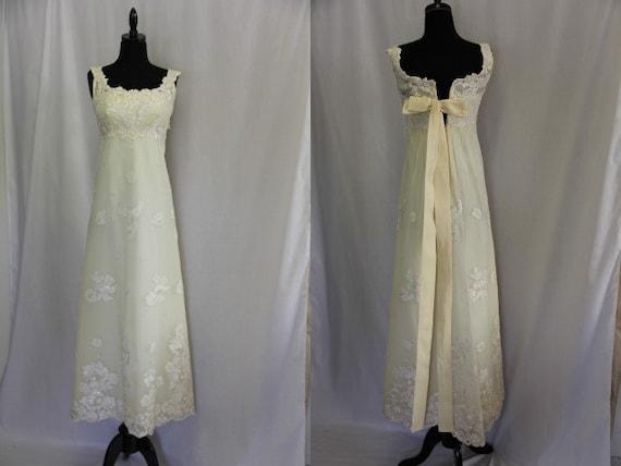 Vintage 1950s Wedding Dress Extra Small