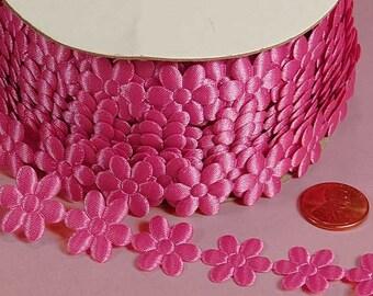 3/4 Flower Charm Ribbon - Fushia