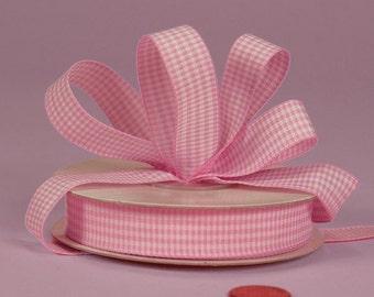3/8 Mini Gingham - Pink