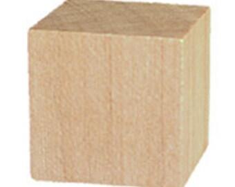 2 - 2 inch Wood Square Blocks Cubes Unfinished Wood Qty.2