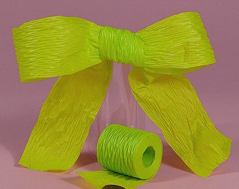"1 1/2"" or 1.5"" Paper Ribbon Citrus Lime Green Bella"