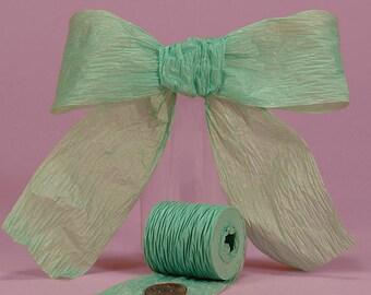 """1 1/2"""" or 1.5"""" Paper Ribbon Sea Green Bella Aqua"""
