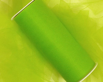 "5 yards - 3"" Lime Green Tulle"