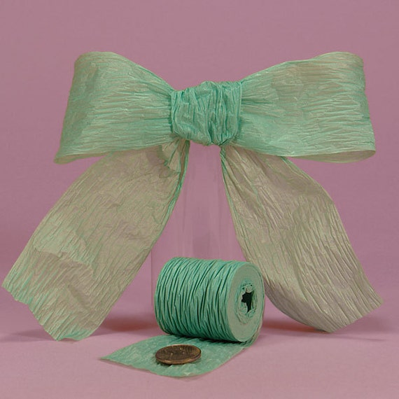 "1 1/2"" or 1.5"" Paper Ribbon Sea Green Bella Aqua"