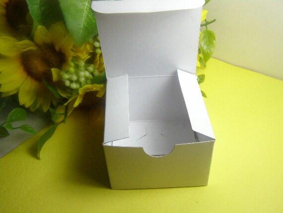6 - 3x3x2 White High Gloss Gift Box Tuck Top Lock Tab Bottom - Ornaments, Favors, Jewelry, Trinkets, Crafts, Lip Balm, Make-Up, Candles