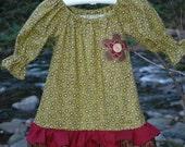 The Delaney Dress  Beautiful Dark Rich Colors Peasant Girl Dress