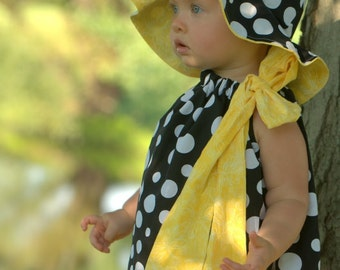 Sunny Lemon Drenched Yellow Dragonflies Boutique Dress Perrrfect for that SpeCial DresS