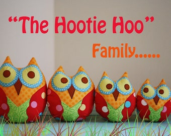The Hootie Hoo Owl Family Pattern