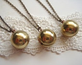 Classic Vintage Ball Locket THREE Necklaces Bulk Listing Bridesmaids Gifts, Set of 3 Necklaces Vintage Wedding