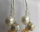 Champagne Freshwater Pearl Dangle Earrings