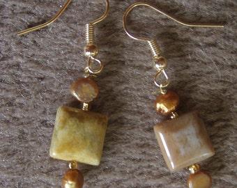 copper colored earrings