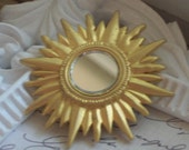 Sun Mirror Brooch Pin Hat Fascinator