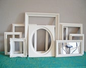 Antique White Empty Wall Frames Eclectic Instant Collection Shabby Chic Cottage Paris - CityOfKaris