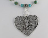 Big Hearted Lady Sings the Blues Necklace