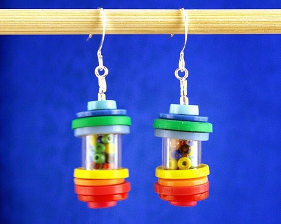 Gumballs Anyone -  Button Earrings