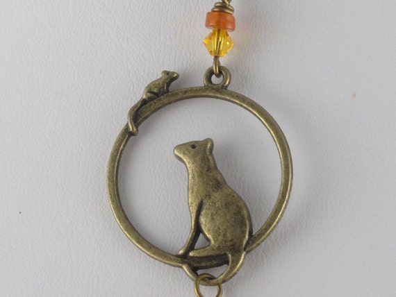 Cat-and-Mouse Necklace