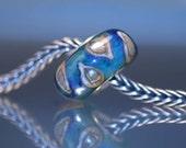 Turquoise Lampwork Handmade BHB - European Charm Bead - SRA