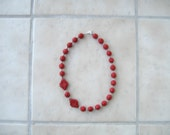 Chinese Red Cinnabar Necklace