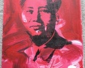 Andy Warhol Mao Artist Study 11x14 Canvas