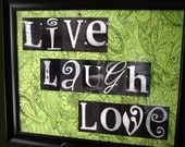 Letter Art LIVE LAUGH LOVE 16x20 Spell It Out Sign with Specialty Paper