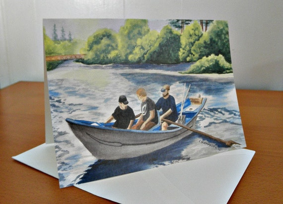 Goin' Fishin' on the Wynoochee - Blank Note Cards