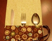 Flatware Roll-Up with Flatware