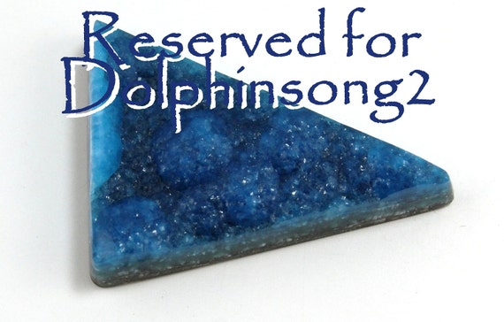 Reserved For Dolphinsong2 Only Deepest Rare Blue Hemimorphite Druzy Cabochon