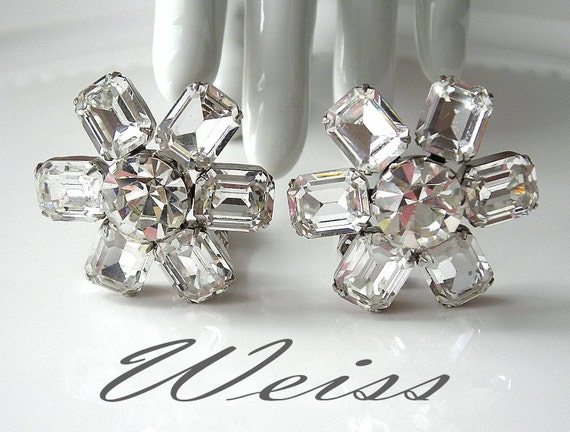 Vintage WEISS Rhinestone Earrings