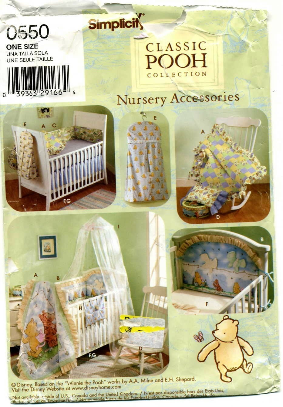 McCall 8373 sewing pattern nursery per pads comforter caddy