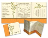 Citrus Earth Wedding Invites with Thank You Card