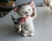 Teddy Bear Nursery Planter - Pink Bow and Pink Bell