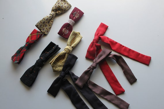Instant Collection of Vintage Bow Ties - Eight ties