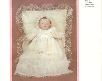 Bryon Doll Pattern for Christening gown 17 inch baby doll Elizabeth