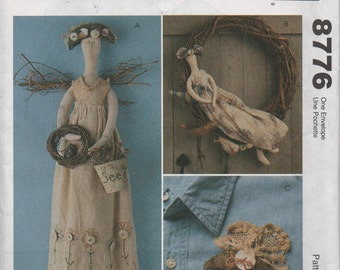 Gardening Angel Doll Sewing Pattern McCalls Craft 8776