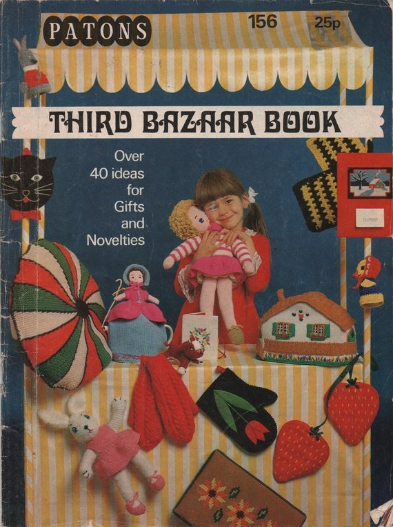 Patons Knitting Third Bazaar Book Retro Gift Items to Knit, Sew and Crochet, Doll