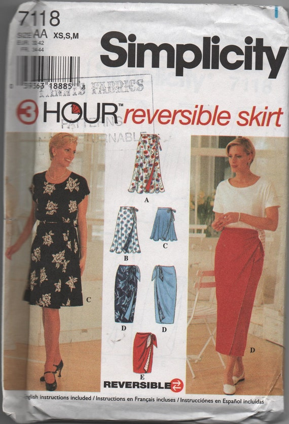 Reversible Skirt Sewing pattern 7118 by  Simplicity 3 Hour Skirt