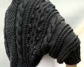 Handknit Chunky Cable Shrug Sweater