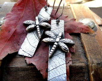 Silver Dragonfly Earrings