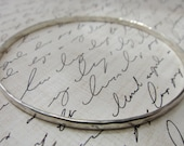 Sterling Bangle Hammered Rustic