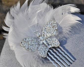 Rhinestone Butterfly Haircomb - Custom Requests Welcome
