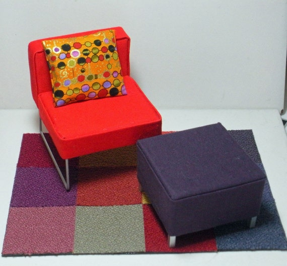 Dollhouse Furniture Modern Mid Century By Tatteredchick On