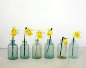 20 Apothecary Bottles in Aqua Blue / Wedding Decor Bottles