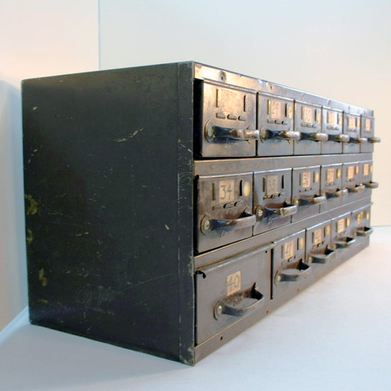 Metal Hardware Parts 17 Drawer Cabinet By ConceptFurnishings