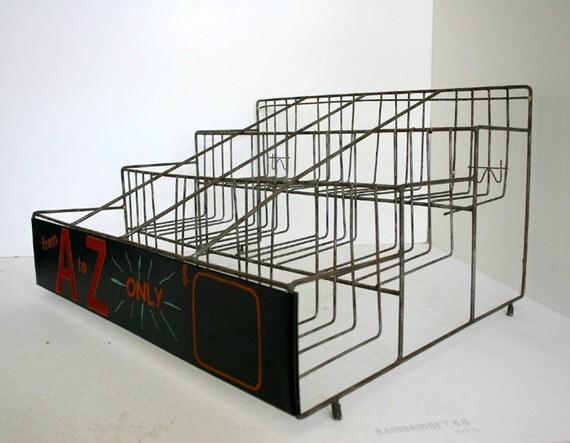 Vintage Industrial Wire Store Display Shelves