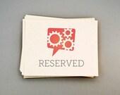 PRI - Reserved for jenniferstuart:  50 flat card invitations (no envelopes)