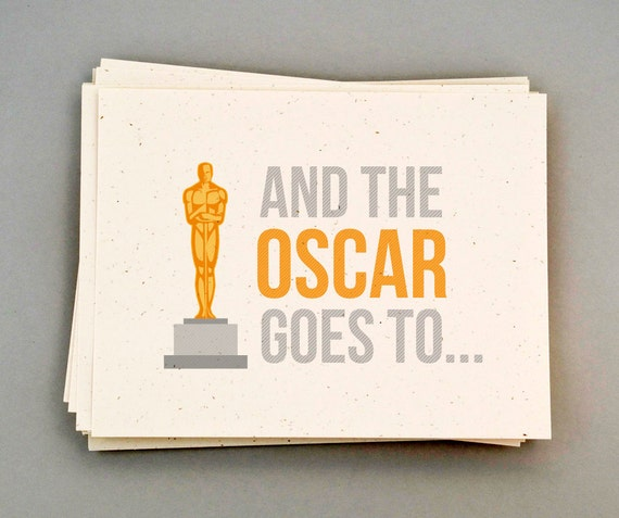 "Academy Award Postcard Invites ""And the Oscar goes to..."""