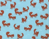 SALE - A Walk in the Woods, Foxlets in Bluebell by Aneela Hoey for Moda Fabrics - Quilting Fabric - 1 yard