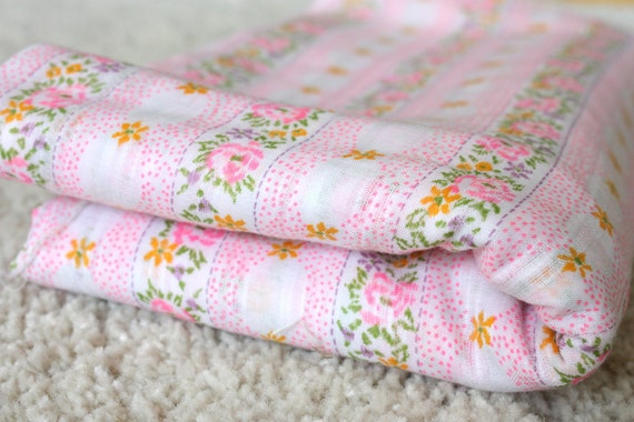 Vintage Floral and Stripe Fabric