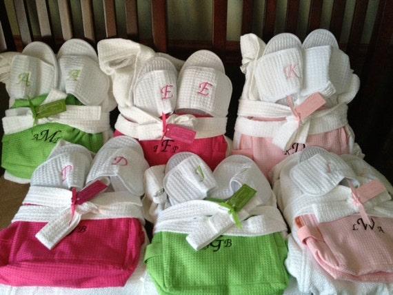 BRIDESMAIDS SPA SET Of 6 Choose From 7 Robe By JoyofGiving